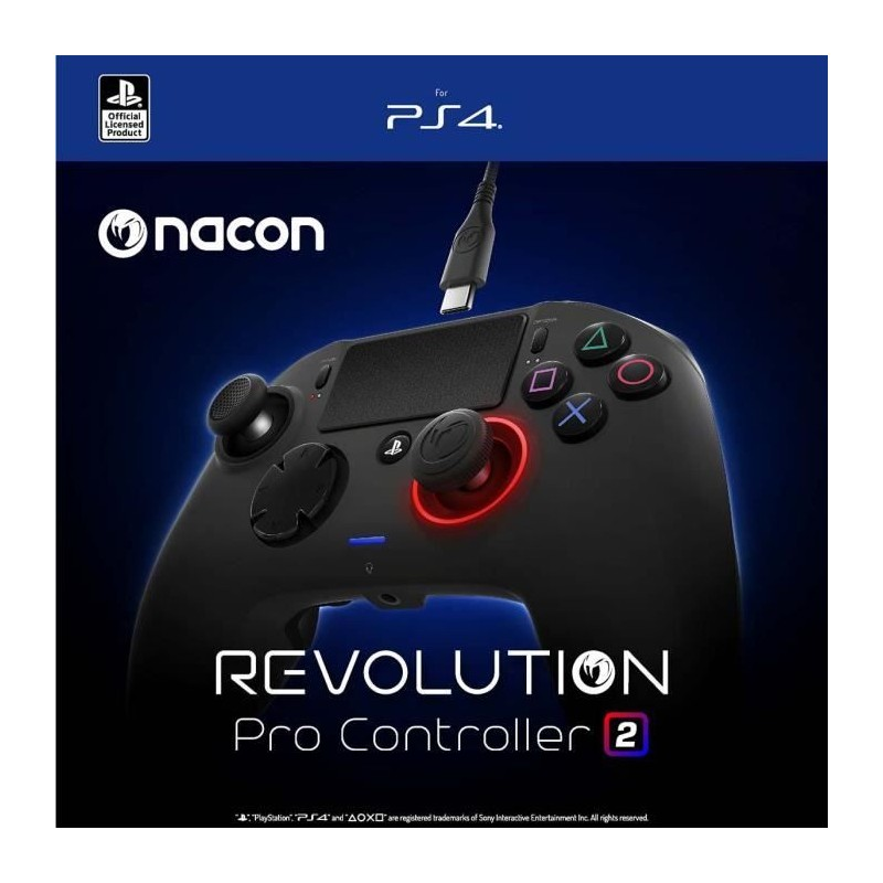 MANETTE PS4 BLUETOOTH NACON REVOLUTION 2 OCC - Accessoires PS4 au prix de 59,95€