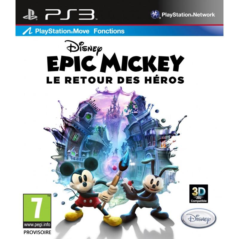 PS3 EPIC MICKEY LE RETOUR DES HEROS - Jeux PS3 au prix de 12,95€