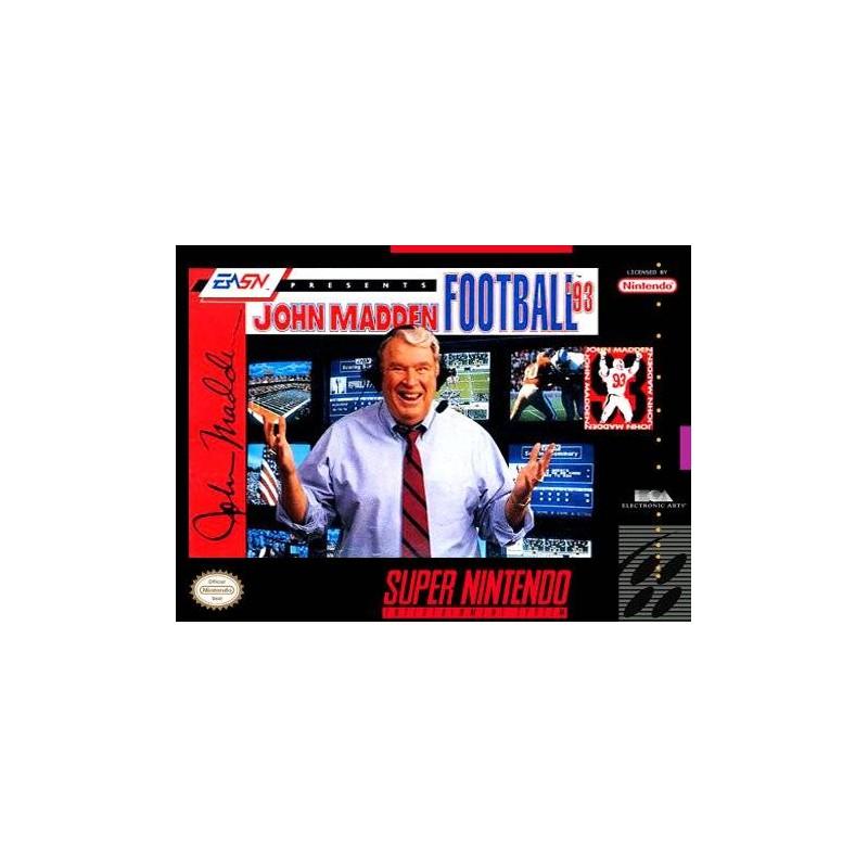 SN JOHN MADDEN FOOTBALL 93 (IMPORT US + SANS NOTICE) - Jeux Super NES au prix de 4,95€