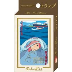 JEU DE CARTES GHIBLI PONYO SUR LA FALAISE - Cartes à collectionner ou jouer au prix de 14,95€