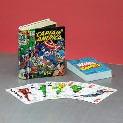 JEU DE CARTES MARVEL COMIC BOOKS DESIGN - Cartes à collectionner ou jouer au prix de 9,95€