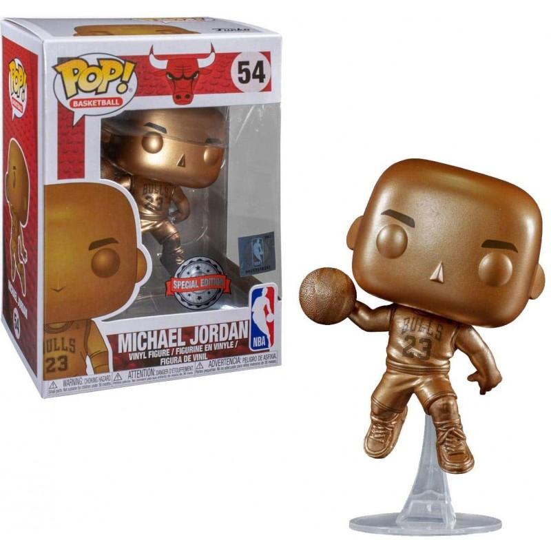 POP NBA CHICAGO BULLS 54 MICHAEL JORDAN EDITION BRONZE - Figurines POP au prix de 19,95€