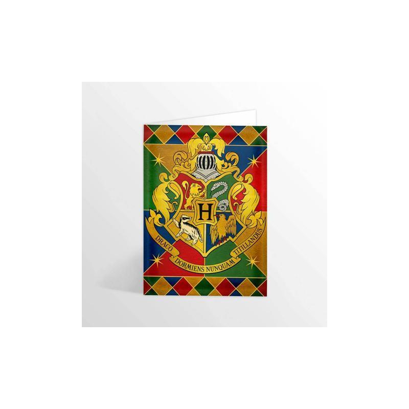 CARTE POSTALE HARRY POTTER HOGWARTS CREST - Papeterie au prix de 4,95€