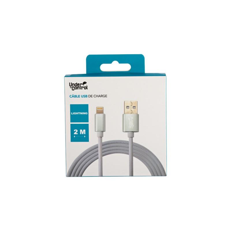 CHARGEUR USB LIGHTNING UNDERCONTROL BLANC 1.2M - Connectique Multimédia au prix de 6,95€