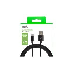 CHARGEUR USB UNDERCONTROL MICRO USB NOIR AVEC SYNCHRO - Connectique Multimédia au prix de 6,95€