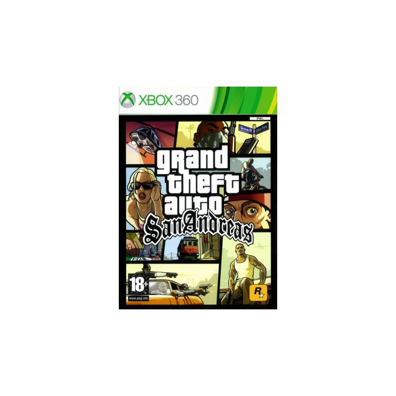 X360 GTA SAN ANDREAS - Jeux Xbox 360 au prix de 12,95€