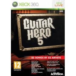 X360 GUITAR HERO 5 - Jeux Xbox 360 au prix de 6,95€