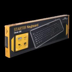 CLAVIER FILAIRE USB STARTER ADVANCE - Claviers au prix de 9,95€