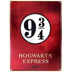 PLAQUE METAL HARRY POTTER QUAI 9 34 28X38CM - Autres Goodies au prix de 14,95 €