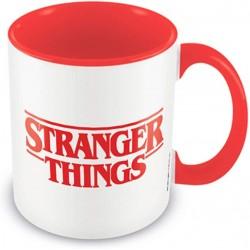 MUG STRANGER THINGS LOGO ROUGE ET BLANC INTERIEUR ROUGE 315ML - Mugs au prix de 9,95€