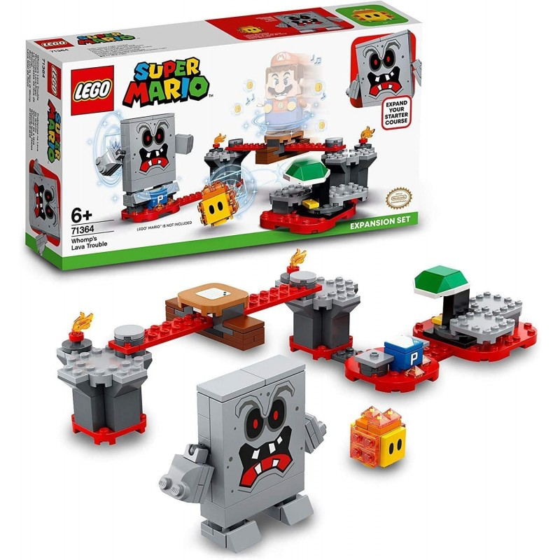 LEGO MARIO 71364 FORTERESSE LAVE DE WHOMP - Puzzles & Jouets au prix de 19,95€