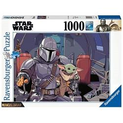 PUZZLE STAR WARS THE MANDALORIAN CARTOON 1000 PIECES - Puzzles & Jouets au prix de 14,95€