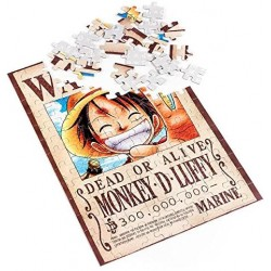 PUZZLE ONE PIECE LUFFY WANTED 100PIECES - Puzzles & Jouets au prix de 14,95 €