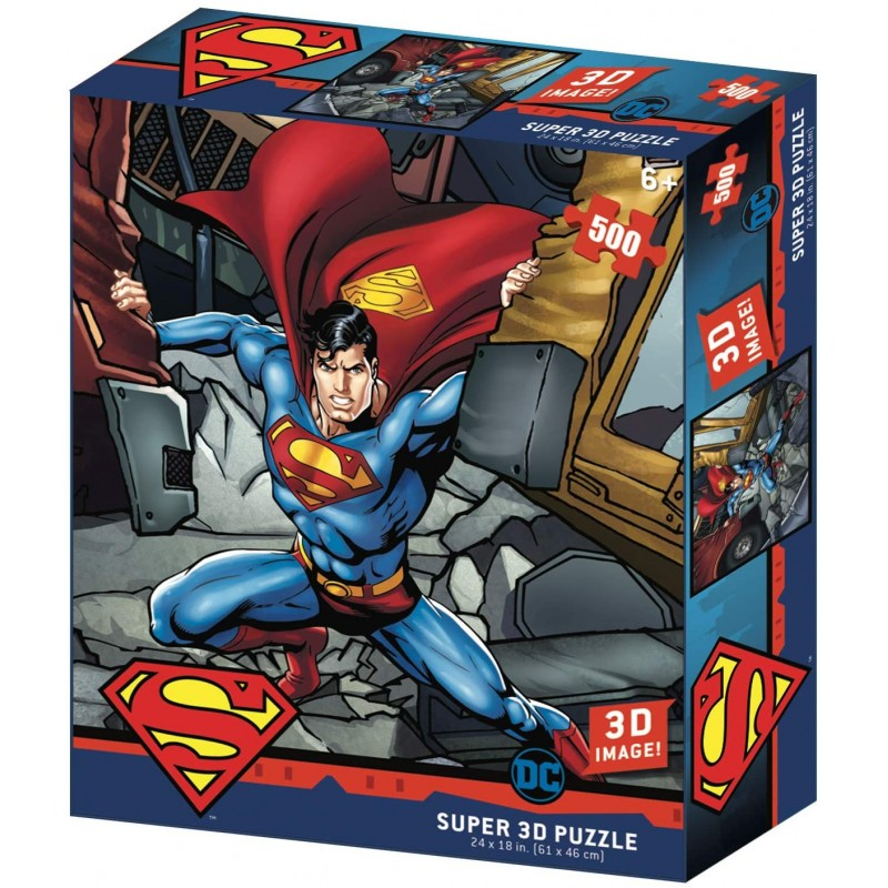 PUZZLE DC SUPERMAN LENTICULAIRE 500 PIECES - Puzzles & Jouets au prix de 19,95€