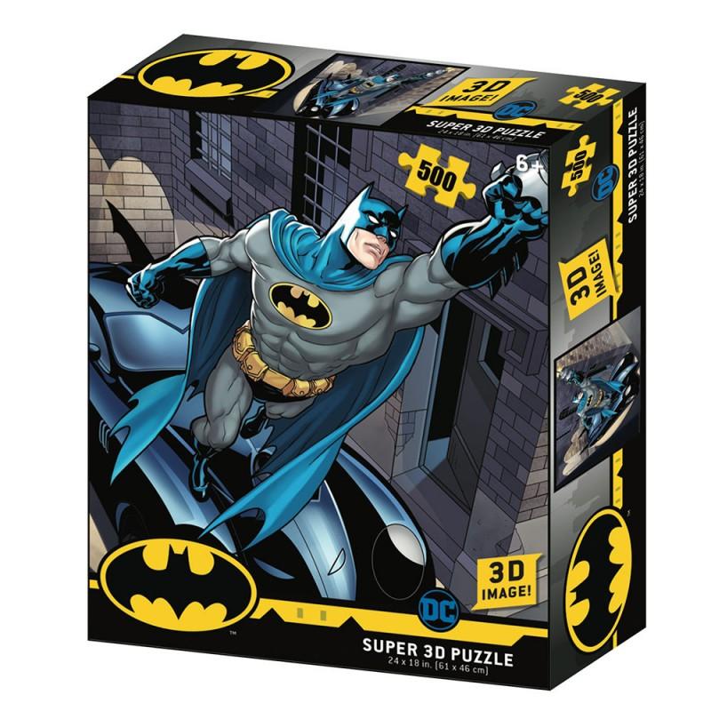 PUZZLE BATMAN BATMOBILE 3D LENTICULAIRE 500 PIECES - Puzzles & Jouets au prix de 19,95€