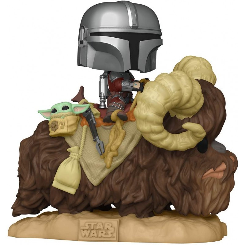 POP STAR WARS THE MANDALORIAN 416 MANDALORIAN AND CHILD ON BANTHA - Figurines POP au prix de 39,95 €