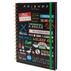 CARNET FRIENDS INFOGRAPHIC A5 - Papeterie au prix de 7,95€