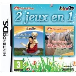 DS 2 JEUX EN 1 ACADEMIE DES ANIMAUX MON CHEVAL - Jeux DS au prix de 3,95€