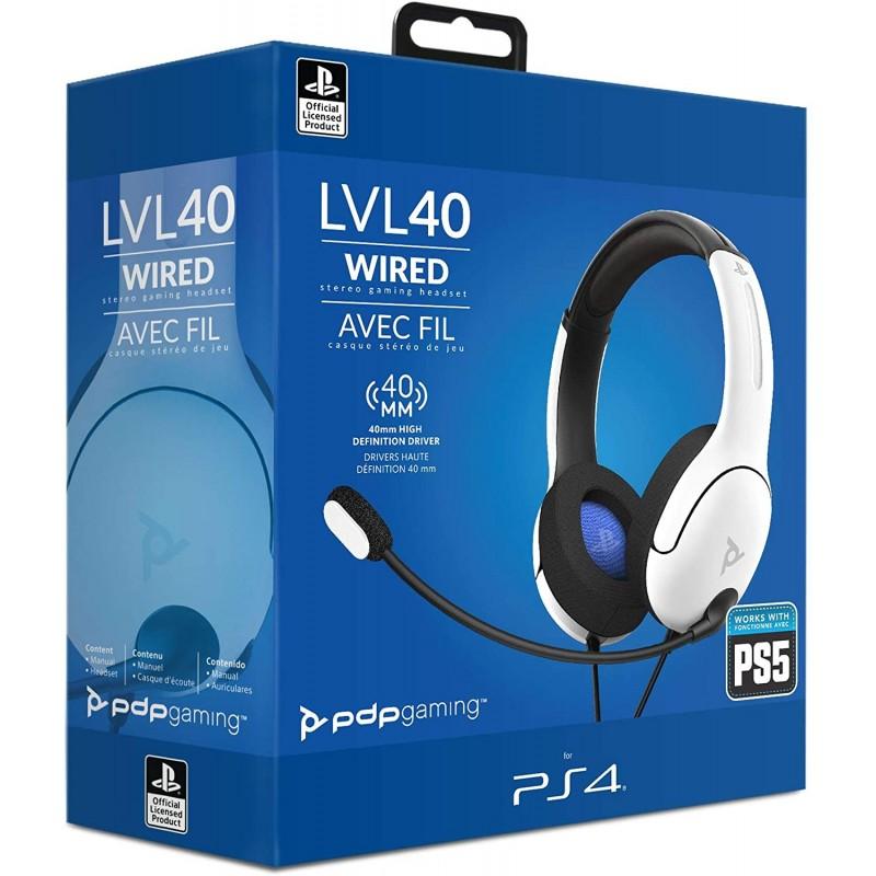 CASQUE SONY PS4 LVL 40 BLANC - Casques Gaming au prix de 34,95€