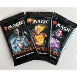 BOOSTER MAGIC THE GATHERING EDITION 2021 - Cartes à collectionner ou jouer au prix de 3,50 €