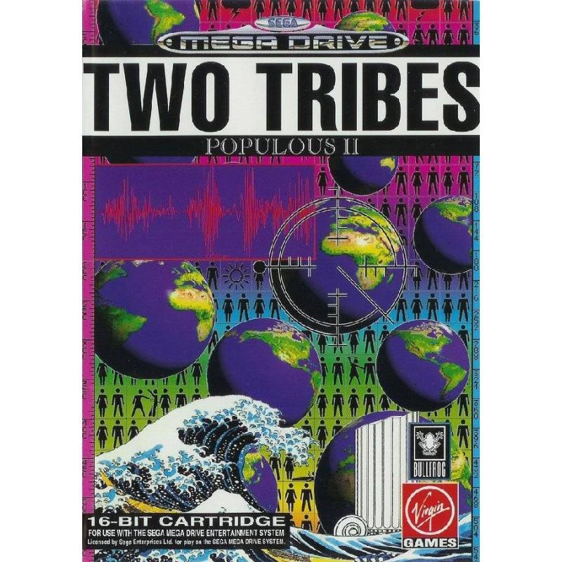 MD TWO TRIBES POPULOUS II - Jeux Mega Drive au prix de 14,95€