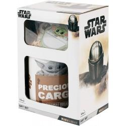 COFFRET CADEAU STAR WARS THE CHILD MUG SOUS VERRE PORTE CLES - Autres Goodies au prix de 14,95€