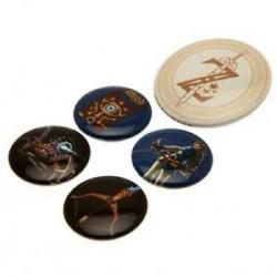 BADGES LEGEND OF ZELDA BREATH OF THE WILD X5 - Autres Goodies au prix de 4,95€