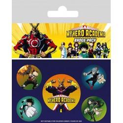 BADGES MY HERO ACADEMIA X5 - Autres Goodies au prix de 4,95€
