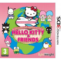 3DS AROUND THE WORLD WITH HELLO KITTY AND FRIENDS - Jeux 3DS au prix de 6,95€