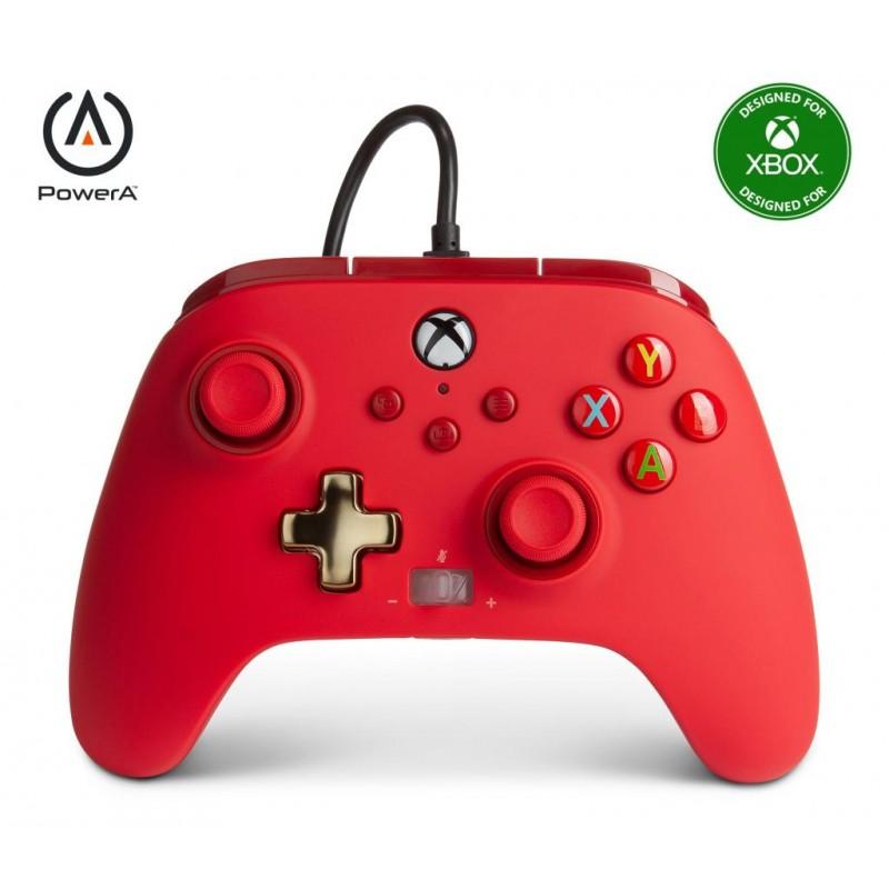 MANETTE XBOX SERIES FILAIRE ROUGE POWER A - Accessoires Xbox Series au prix de 39,95€