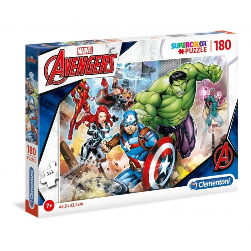 PUZZLE MARVEL AVENGERS SUPERCOLOR 180 PIECES - Puzzles & Jouets au prix de 9,95€