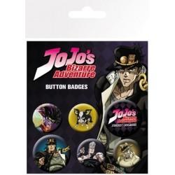BADGES JOJO BIZARRE ADVENTURES STARDUST CRUSADERS X6 - Autres Goodies au prix de 4,95€