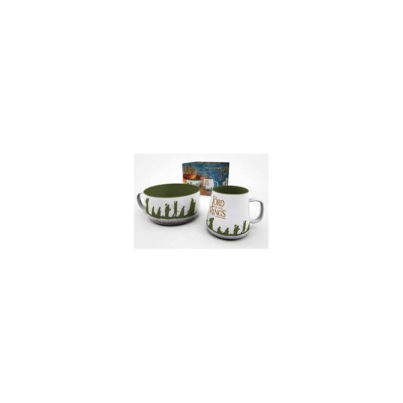 SET PETIT DEJEUNER SEIGNEUR DES ANNEAUX - Mugs au prix de 19,95€