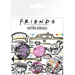BADGES FRIENDS X6 - Autres Goodies au prix de 4,95€