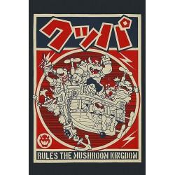 TSHIRT MARIO PROPAGANDA RULES THE MUSHROOM KINGDOM TAILLE M - Textile au prix de 19,95€