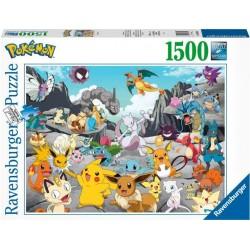 PUZZLE POKEMON CLASSIC 1500 PIECES - Puzzles & Jouets au prix de 24,95€