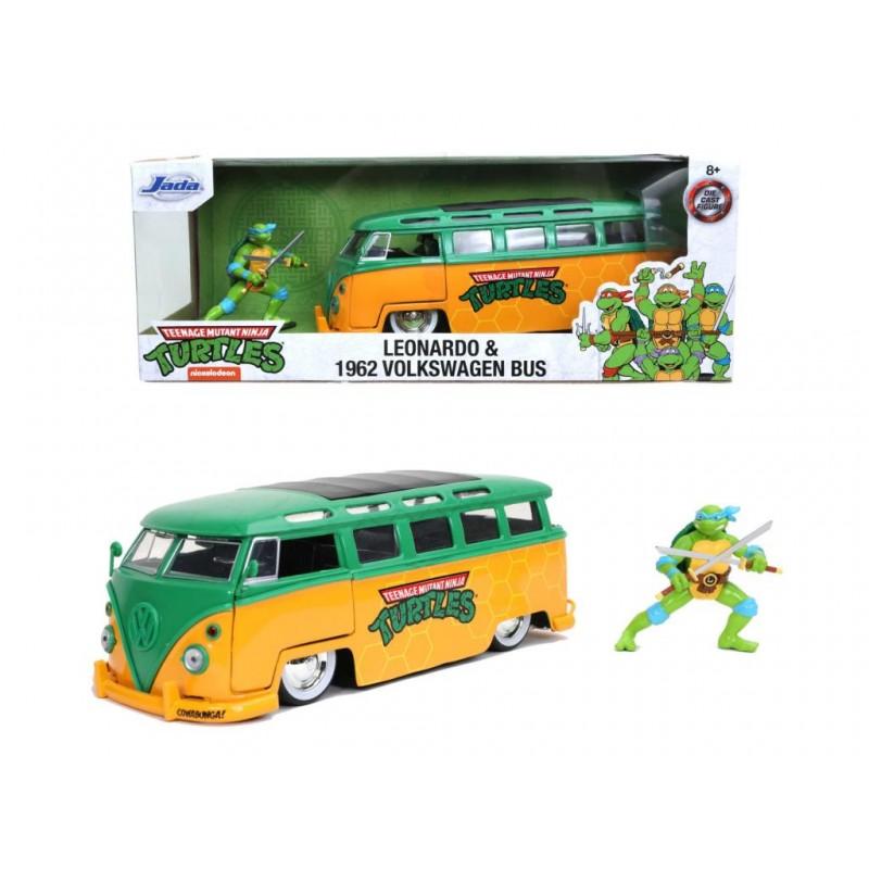REPLIQUE TMNT BUS 1962 ET LEONARDO - Figurines au prix de 34,95€
