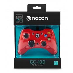 MANETTE FILAIRE PC NACON GC 100 ROUGE - Accessoires PS4 au prix de 29,95€