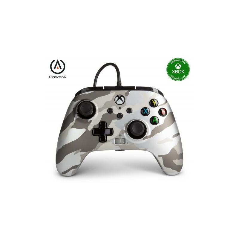 MANETTE XBOX SERIES CAMO WHITE FILAIRE POWER A - Accessoires Xbox Series au prix de 39,95€