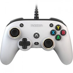 MANETTE FILAIRE XBOX ONE SERIES NACON WIRED OFFICIAL PRO COMPACT BLANC - Accessoires Xbox Series au prix de 49,95 €