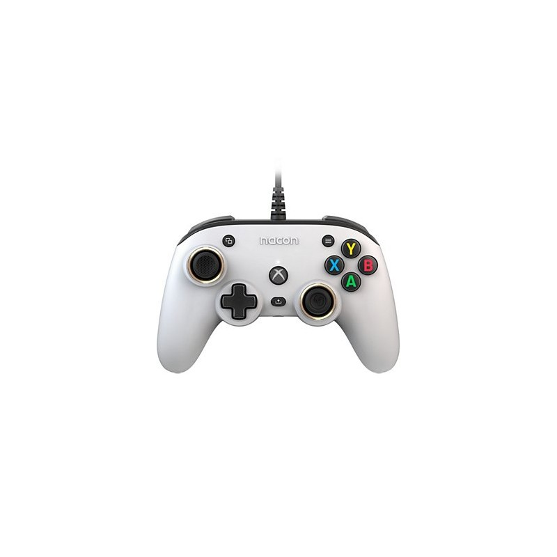MANETTE FILAIRE XBOX ONE SERIES NACON WIRED OFFICIAL PRO COMPACT BLANC - Accessoires Xbox Series au prix de 49,95€
