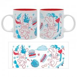 MUG LAPINS CRETINS GRAPHIQUE 320ML - Mugs au prix de 9,95€