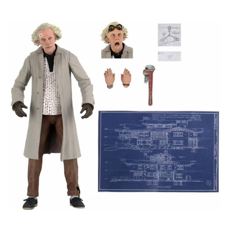 FIGURINE RETOUR VERS LE FUTUR ULTIMATE DOC BROWN 18CM - Figurines au prix de 39,95€