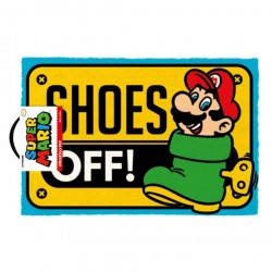 PAILASSON SUPER MARIO SHOES OFF 40X60CM - Autres Goodies au prix de 24,95 €