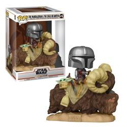 POP STAR WARS THE MANDALORIAN 416 MANDALORIAN AND CHILD ON BANTHA - Figurines POP au prix de 39,95€