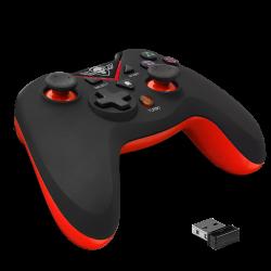 PS3 MANETTE BLUETOOTH XGP WIRELESS RED PS3PC - Accessoires PS3 au prix de 29,95€