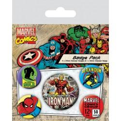 PINS MARVEL COMICS PACK 5 BADGES IRON MAN - Autres Goodies au prix de 4,95€