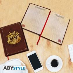 CARNET ONE PIECE DRAPEAU OR NOTEBOOK A5 - Papeterie au prix de 12,95€