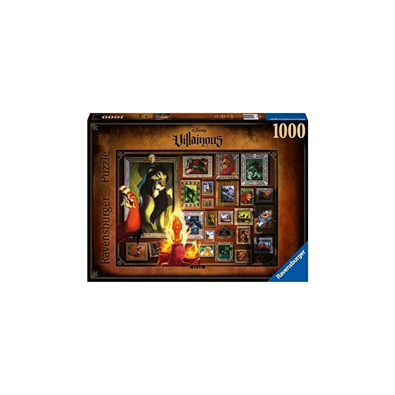 PUZZLE DISNEY ROI LION VILLAINOUS CAR 1000 PIECES - Puzzles & Jouets au prix de 14,95€
