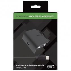 BATTERIE XBOX SERIES X AVEC CABLE DE CHARGE 3M UNDERCONTROL - Accessoires Xbox Series au prix de 14,95€